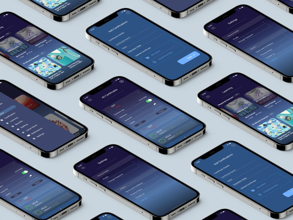 Isometric iPhone 12 Pro Grid Mockup by Anthony Boyd Graphics