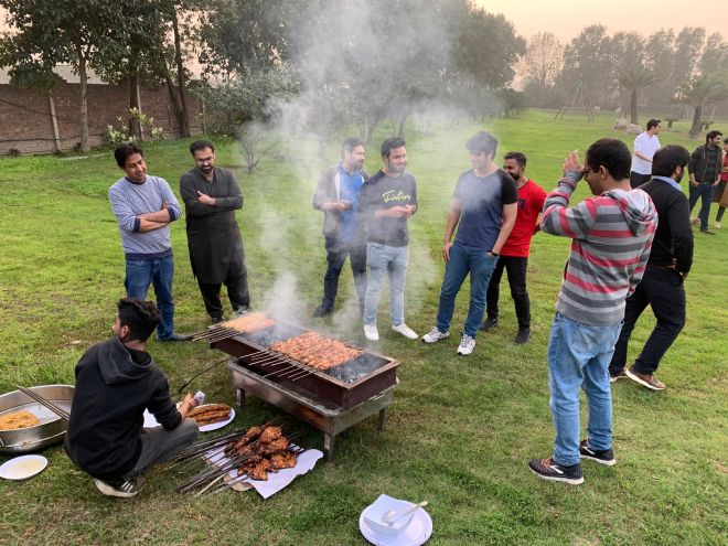 BBQ with the team